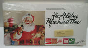 1980and039s Cocacola Pack Of 50 Santa Holiday Shelf Talkers 5-brand Unopened