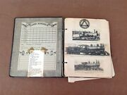 Very Cool Vintage Railroad Scrapbook Clippings Photographs Advertising Etc...