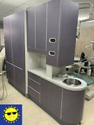 Adec 5543 Dental Center Island Cabinet W/ X-ray Pass Through And Privacy Purple