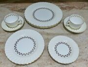 10 Piece - Service For 2 - Minton - Cheviot Gold - Dinner / Salad / Bread / Cup+