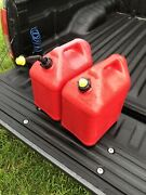 Qty 2 Blitz 5 Gallon Gas Can Self Venting Fast Pouring Spout And Cap