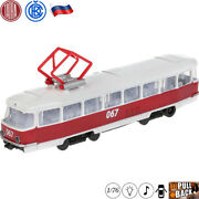 Diecast Toy Tram Tatra T3su Scale 1/76 Model With Light And Sound Effects