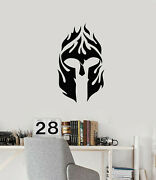 Vinyl Wall Decal Fire Mask Soldier Military Decor Boys Room Stickers G3826