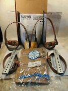 New Klein Tools Adjustable Steel 2-3/4 Gaffs Tree Climbing Spikes Made In Usa