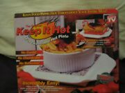 As Seen On Tv The Original Keep It Hot Microwaveable Hot Plate