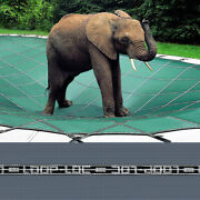 Loop-loc - 20 X 40 Gray Mesh Rectangle Safety Cover For Inground Pools - Llm1243