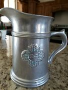 Rare Wilton Armetale Holloware Pewter Zia Pattern Water Pitcher - New