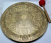 27 Inch Handmade Gong Bell Prayers Gong Meditation - Home And Living