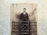 Xx Rare 1800 's African American Handsome Well Dressed Man Cabinet Card Photo