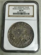 1637 Germany Taler Hesse-cassel Silver Coin Ngc Au 55
