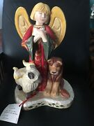 """Rare Limited Edition 16"""" Tall House Of Hatten Angel Peaceable Kingdom Figurine"""