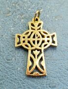 James Avery Retired 14k Pax Double Cross Charm Or Pendant