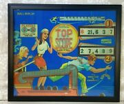 Gottlieb's 1975 Top Score Pinball Print Reproduction Done On Paper 28x24