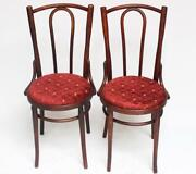 A Pair Of Antique Bentwood Chairs Attributed To Thonet [6526b]