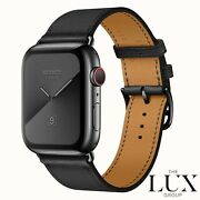 Apple Watch Series 6 Hermes 44mm Space Black With Single Tour Noir Band