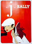 And039bally Jand039 Original Vintage French Fashion And Advertising Poster Retro Shoes