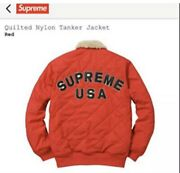 Supreme Quilted Nylon Tanker Jacket Red L Fw16 Bogo Rare Authentic