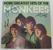 The Monkees Signed Autograph Album Lp By All 4 Davy Jones, Peter Tork, Nesmith