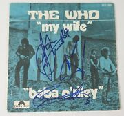 The Who Signed Autograph Baba Oand039reily 45rpm 7 Vinyl Record X3 Roger Pete Ox