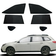 Fit For Subaru Outback 2010-2014 Side Window Black Silver Privacy Sunshade 6pcs
