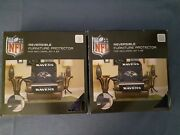 Baltimore Ravens Nfl Furniture Protector Recliner Chair Seat Cover = Lot Of 2