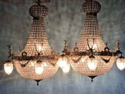 Pair Of 2 Deer Head Chandeliers. Unique Chance Free Shipping