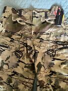 Mens Under Armour Barren Camo Camouflage Wool Hunting Pants Size 42/38 Water Res