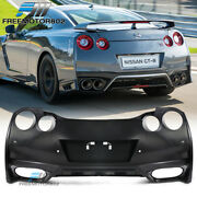 Fits 09-22 Nissan R35 Gtr Upgrade 09-16 To 2017+ Rear Bumper Cover Conversion