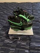 Nike Off White Rubber Dunk Black/green Ps Size 2y