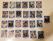 1972 Sunoco Football Stamps - Detroit Lions Lot Of 25 Charlie Sanders