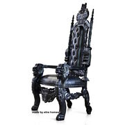 Uk Stock Gothic Black Lion King Throne Chair Prop Wedding And Hotel 180cm High