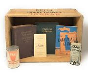 Circa 1930s Vintage Embalming Collection Hydrol Embalming Fluid Crate Bickmore