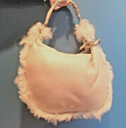 Jimmy Choo Handbag Shimmering Gold And Silver Leather W Shearling Trim Hobo