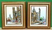 Rare Mid Century Oil Paintings Signed By H Jasper Cityscapes Of England