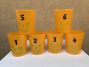 Lot Of 6 Halloween Plastic Pumpkin Jack-o-lantern Candy Containers Bins 1to6