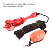 Folding Anchor Foldable Anchors Kit 3.3lb/1.5kg Red Universal Stainless Stee Fa