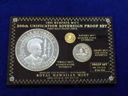 1995 Kuapapa Moand039i 200th Unification Sovereign Proof Set Gold And Silver