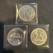 Pure 1 Oz Silver Coin Bullion Limited Mintage Rare Canadian 3 Coin Lot Bu