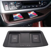 Qi Wireless Dual Car Center Dash Phone Charger Pad For Toyota Highlander 2015-19