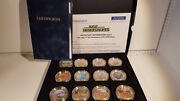 Lot 601 The Age Of The Dinosaurs Full Coin Collection. Gold Plated. 2318/ 4950