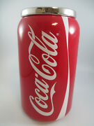 Coca-cola Cookie Jar Canister Snack Jar Can Of Coke Red Rubber Gasket Seal