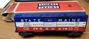 Lionel 3494-275 Operating Box Car State Of Maine Used In Box Dusty O Scale