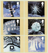 Great Britain - Ice Snow Pyramids Christmas 2003 Set Of 6 Mint Phq Cards