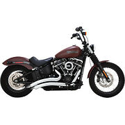 Vance And Hines Big Radius 2-into-2 Exhaust System Chrome Softail Fatbob Low Rider