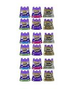 Kinetic Sand Purple Pink Green White Tan And Blue 4.5 Oz 18 Pack Sealed Box
