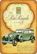 Metal Sign - 1932 Reo Royale Eight Automobiles -- Vintage Look