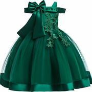 Embroidery Silk Princess Dress For Baby Girl Party Halloween Kids Dresses Cloth