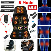 Massage Cushion Car Chair Seat Home Massager Neck Support Heat Full Body Relax