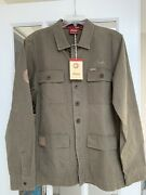 Indian Motorcycle Men's Shirt Work Jacket Button Down Vintage Inspired S Small