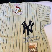 Whitey Ford Cy Young Signed 1961 New York Yankees Mickey Mantle Jersey Jsa Coa